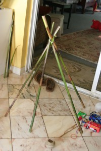 TeePee Frame (Sticks From Our Yard)