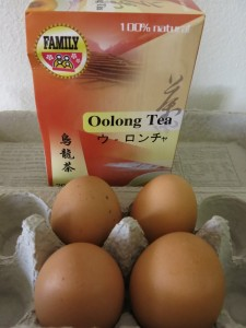 Eggs Dyed Brown Using Boiled Black Tea